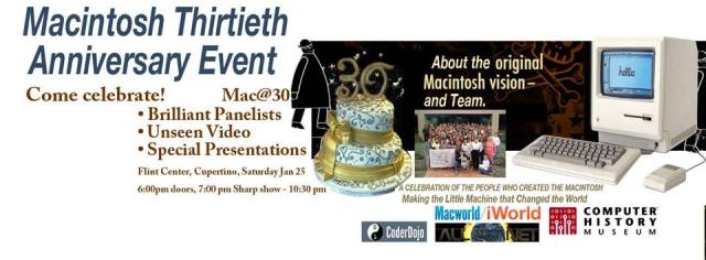 Macintosh 30th Anniversary Event Banner