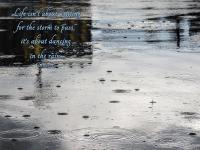 rain with quote