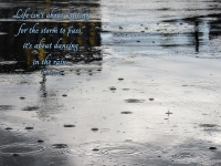 rain with quote